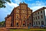 Старый Гоа столица португальских владений в Индии. Монументальные католические соборы. Базилика Бом Иисуса