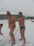 Ледяной ожог. Йога для начинающих. Развитие интуиции-190  О! А это уже после парилочки мы вышли на снежок!