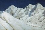 В Индии. Белоснежные снега Гималаев. 1874-1876
