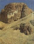 Монастырь в скалах. Ладакх, Северная Индия, 1875