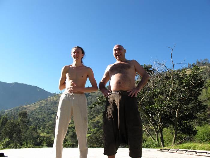 Евгений Слогодский и Владимир Калабиин в Эквадоре