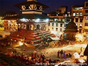 Йога-тур в Непал. Ночной Катманду. Хатха-Йога для начинающих