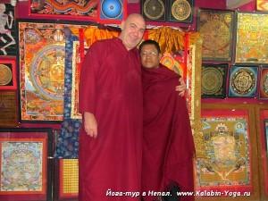 Йога-тур в Непал.Хатха-йога для начинающих.Евгений Слогодский и Мэн Бахадур Лама