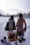 Купание в проруби. Зимние каникулы
